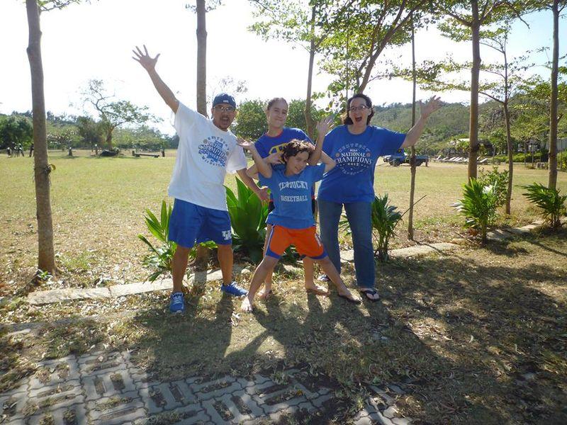 Clemente Family - 2014 Dec - GO BLUE